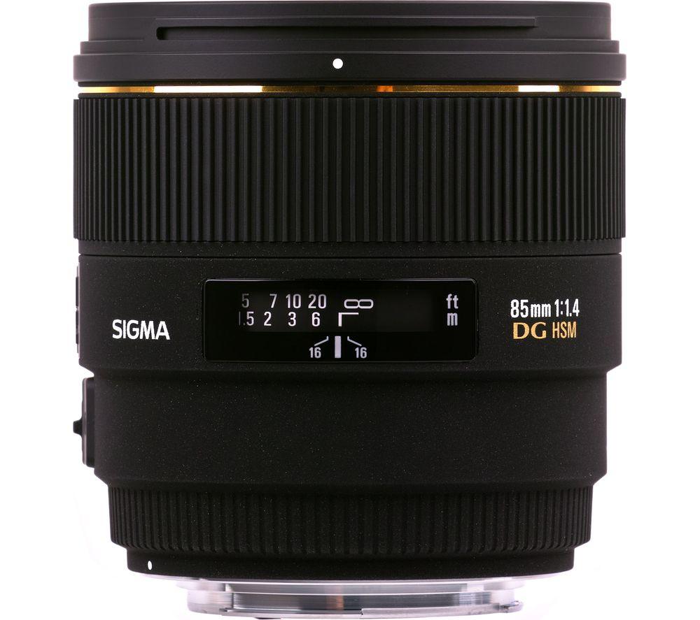 SIGMA 85 mm f/1.4 EX DG HSM Standard Prime Lens - for Nikon