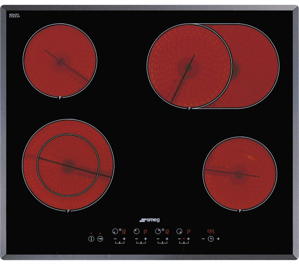 SMEG  SE2664TC2 Electric Ceramic Hob  Black Black