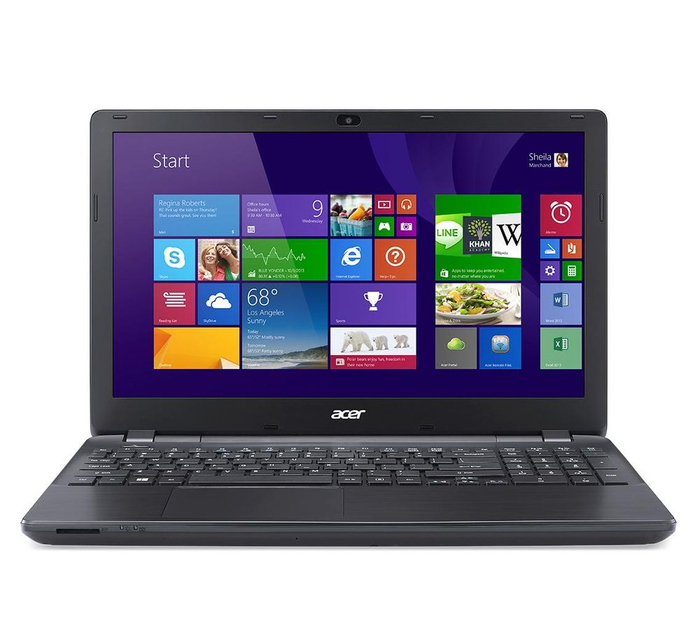 "ACER Aspire E5-553-10Q6 15.6"" Laptop - Black + Office 365 Home + LiveSafe Unlimited 2017 - 1 year"