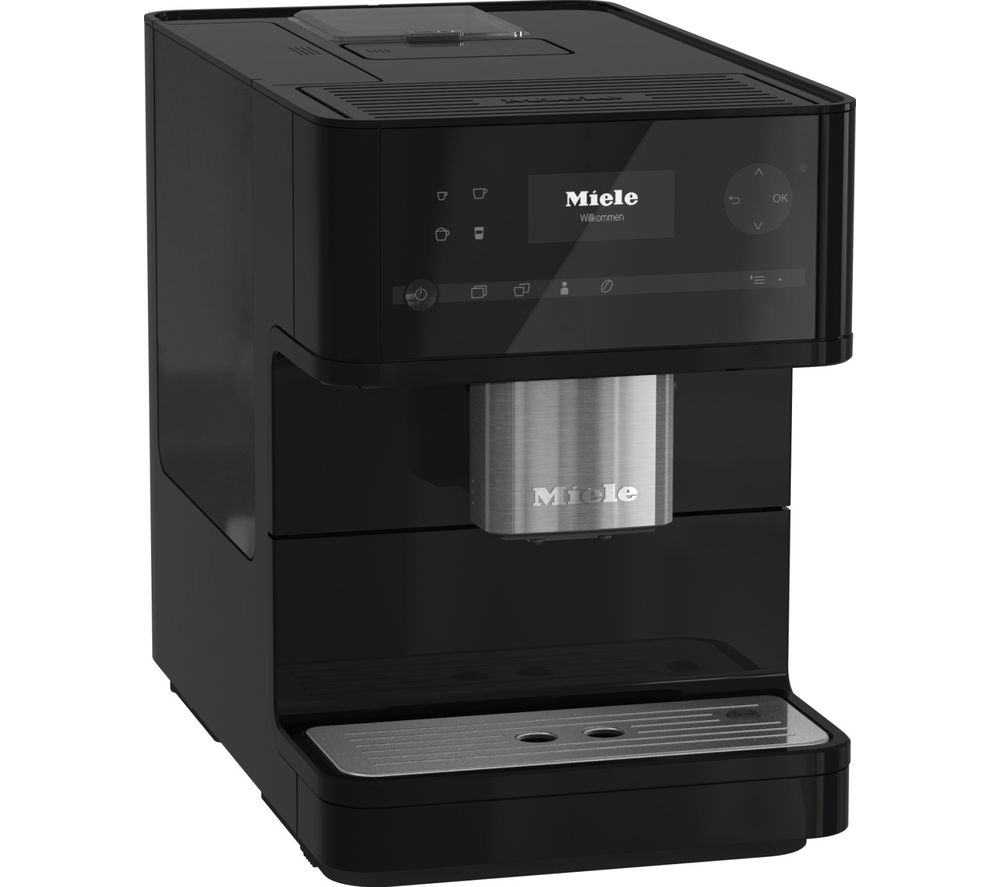 buy miele cm 6150 bean to cup coffee machine obsidian black free delivery currys. Black Bedroom Furniture Sets. Home Design Ideas