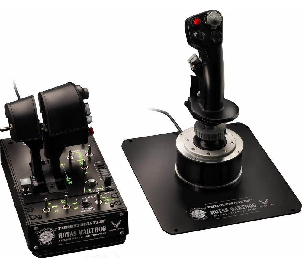 THRUSTMASTER Hotas Warthog Joystick & Throttle - Black