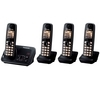 PANASONIC KX-TG6624EB Cordless Phone with Answering Machine - Quad Handsets