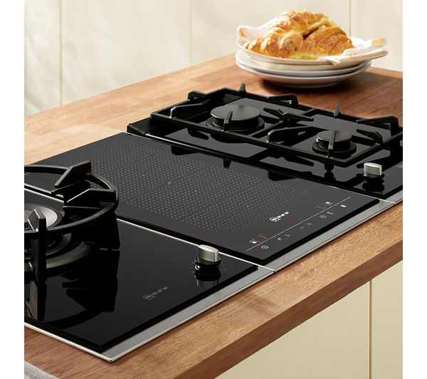 buy neff n24k30n0 domino gas hob black free delivery currys. Black Bedroom Furniture Sets. Home Design Ideas