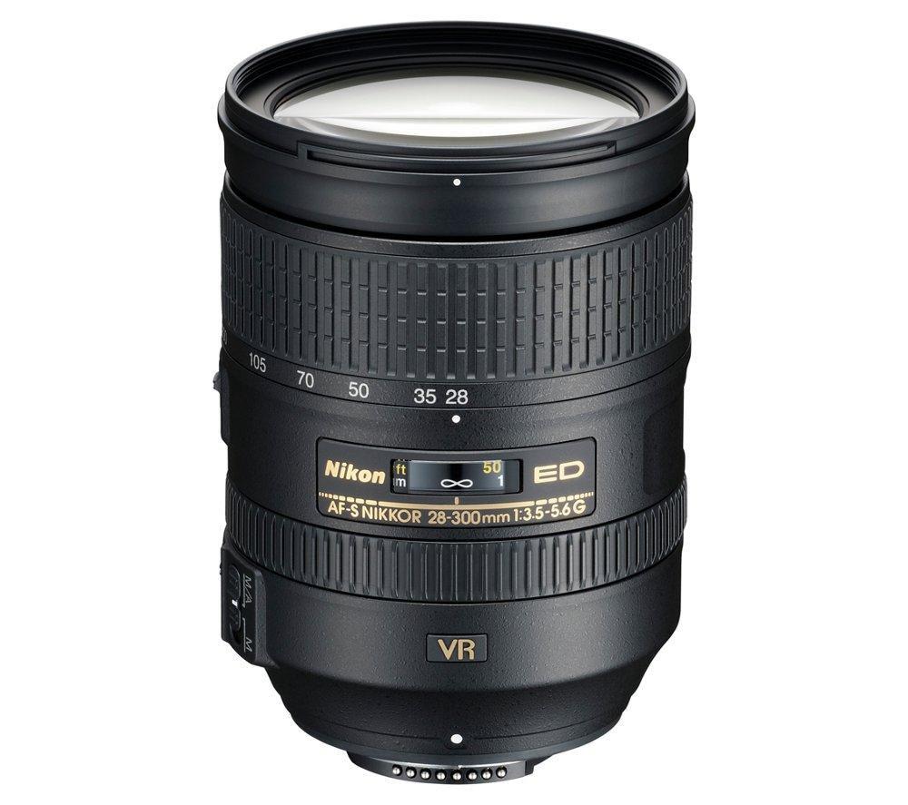 NIKON AF-S NIKKOR 28-300 mm f/3.5 - 5.6 SWM ED VR II IF Telephoto Zoom Lens + DSLR Cleaning Kit