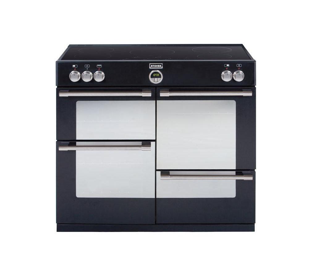 STOVES  Sterling 1100Ei Electric Induction Range Cooker  Black Black