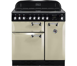 RANGEMASTER Elan 90 Electric Induction Range Cooker - Cream & Chrome
