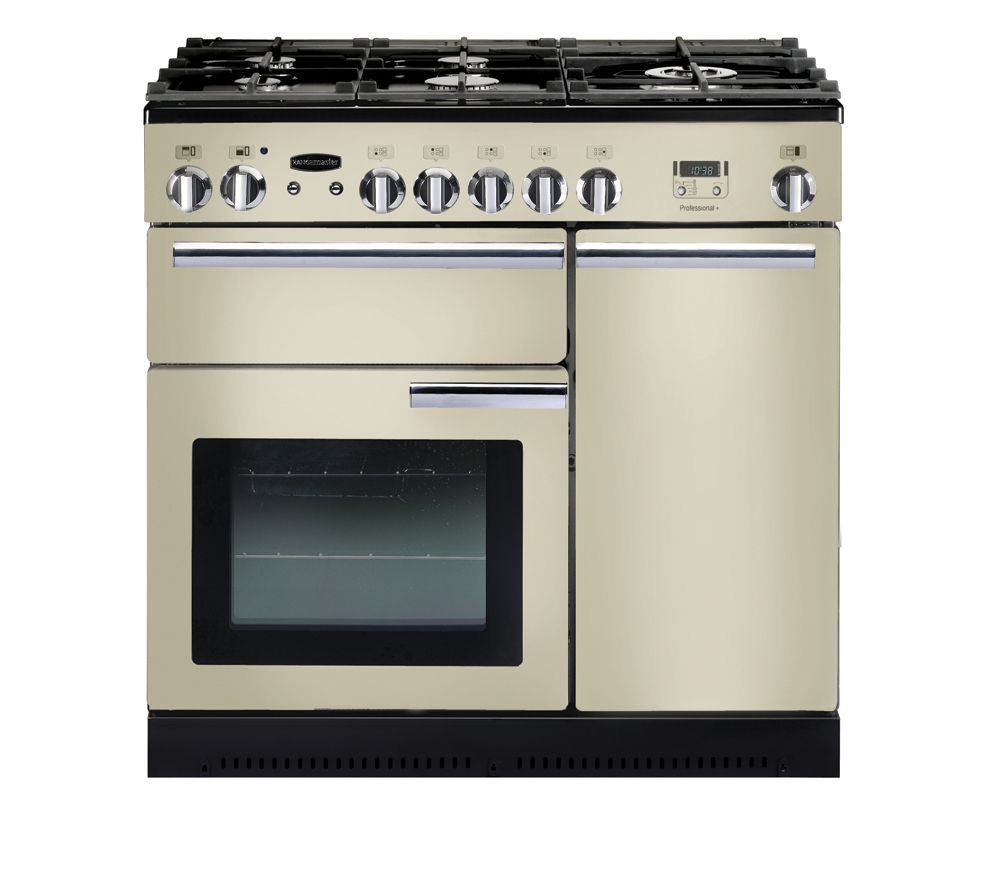 RANGEMASTER Professional+ 90 Dual Fuel Range Cooker - Cream & Chrome