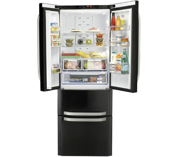 Buy hotpoint quadrio combi ffu4dk fridge freezer black for Hotpoint ariston kühlschrank
