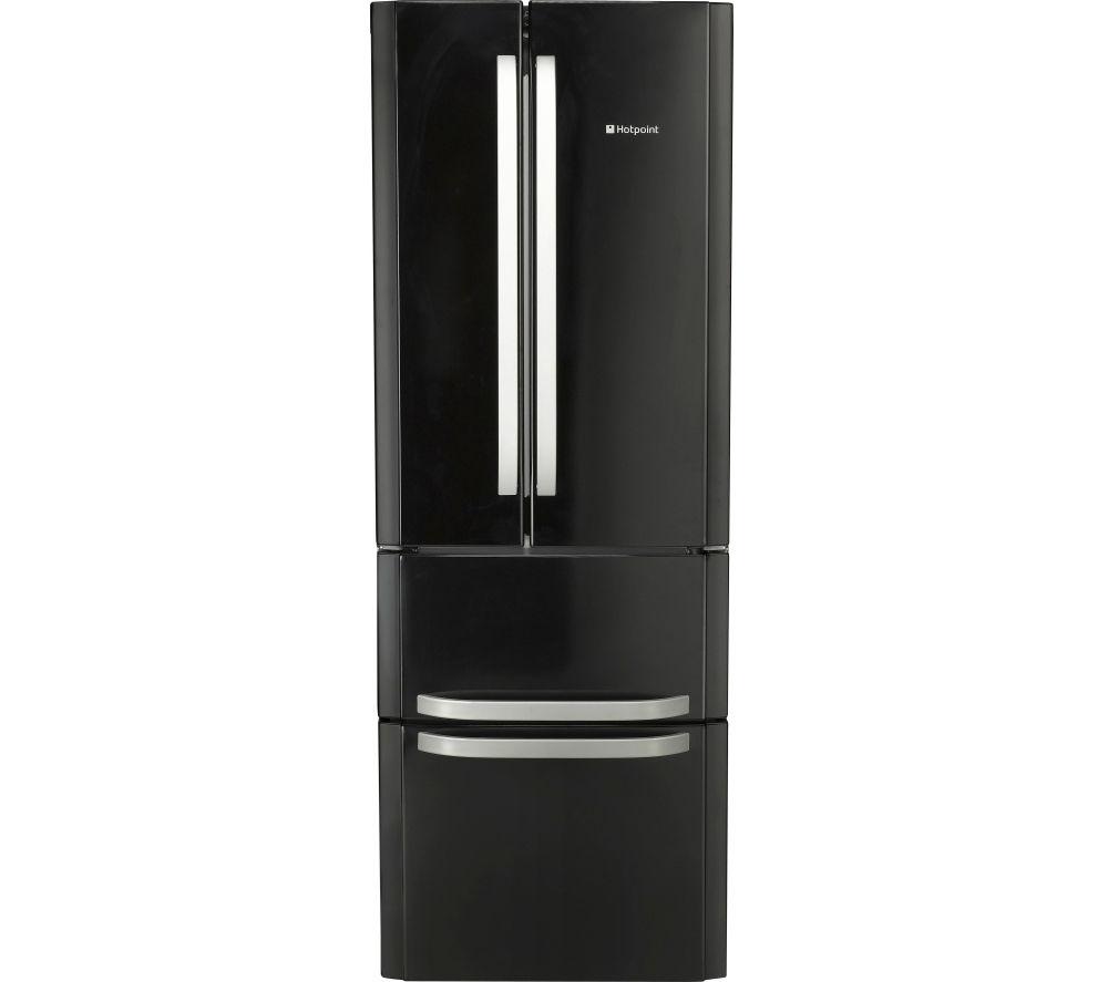 HOTPOINT  Quadrio Combi FFU4DK Fridge Freezer  Black Black
