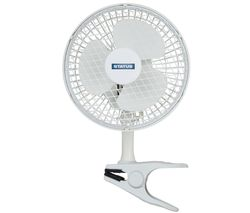 "STATUS 6"" Clip Desk Fan - White"