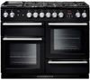 RANGEMASTER Nexus 110 Dual Fuel Range Cooker - Black & Chrome