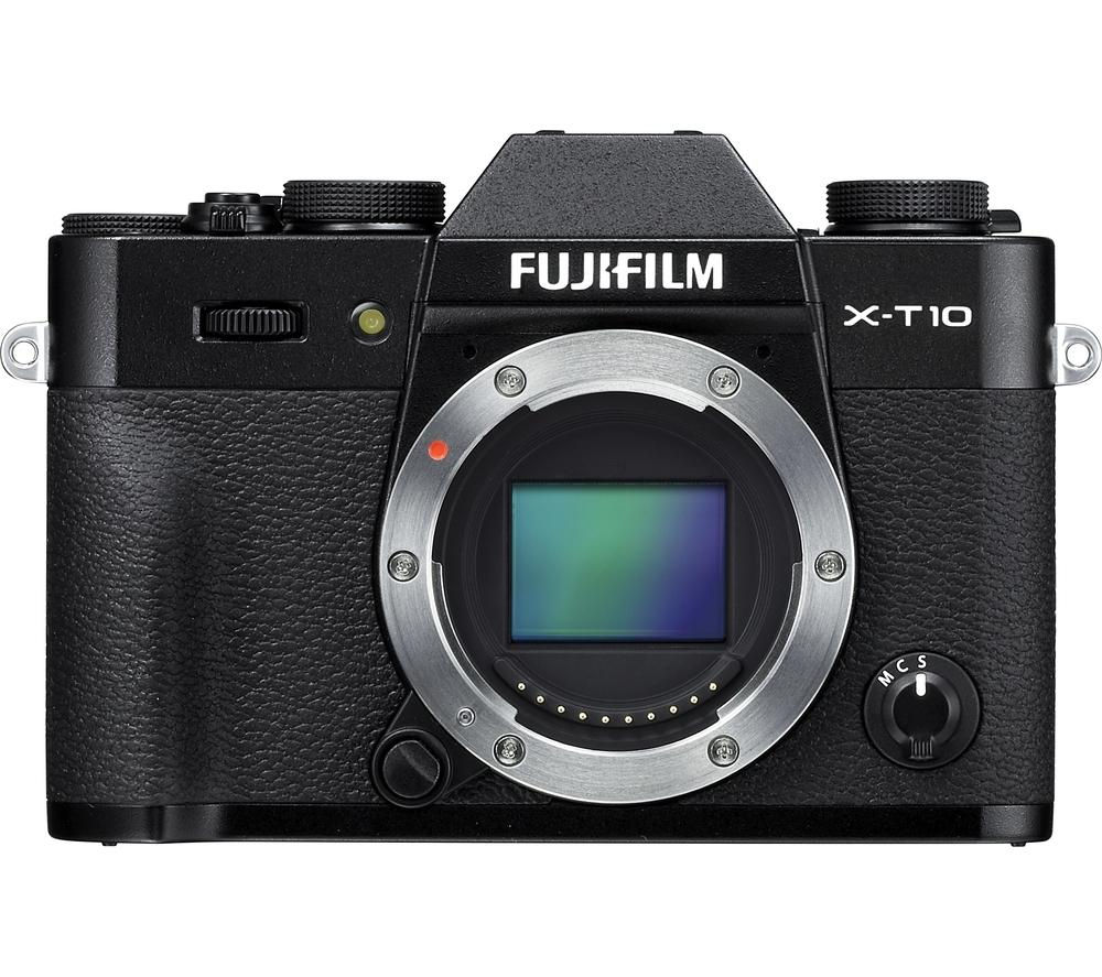 FUJIFILM  X-T10 Compact System Camera - Black, Body Only +  X-A2 Accessory Kit - Black