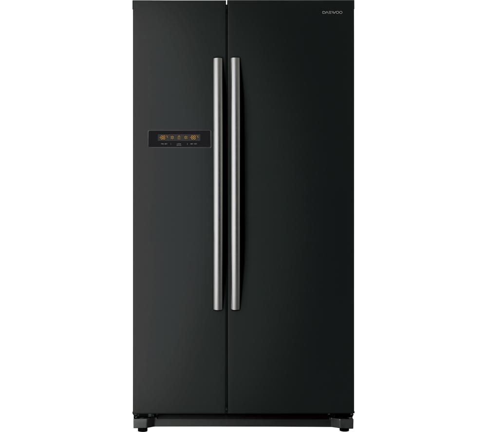 buy daewoo drx31b3b american style fridge freezer black. Black Bedroom Furniture Sets. Home Design Ideas