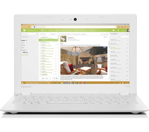 """Image of LENOVO IdeaPad 100S 11.6"""" Laptop - White"""