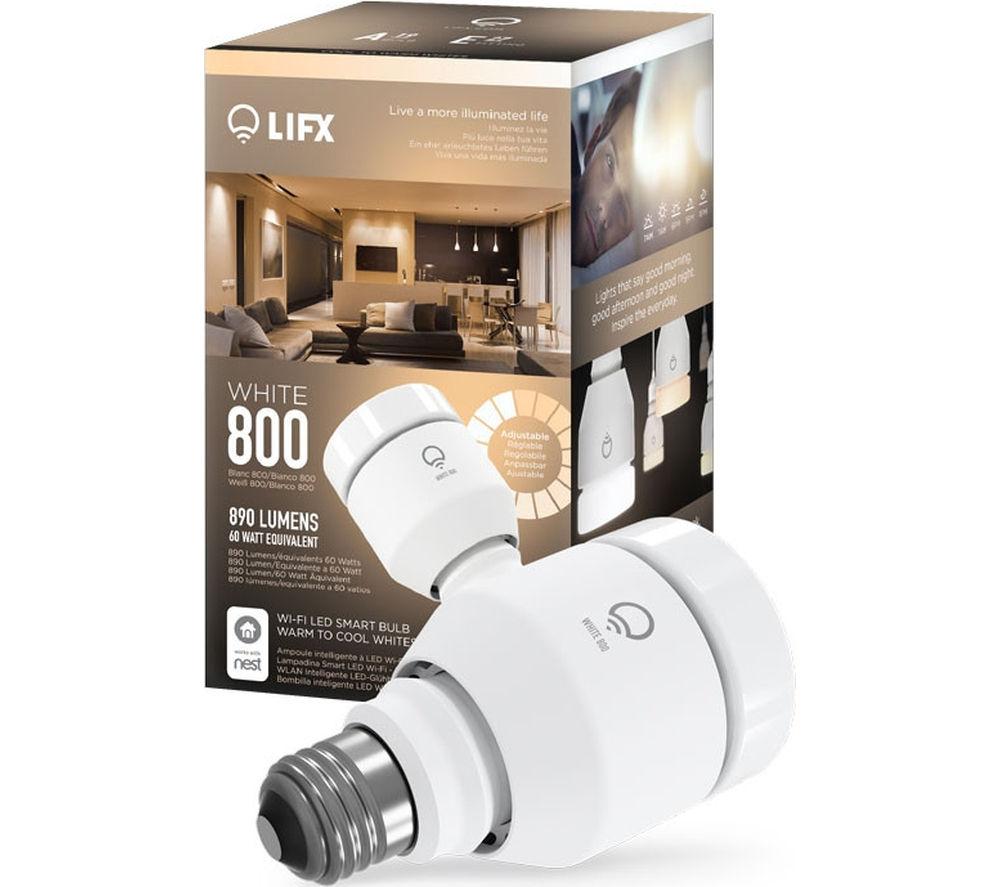 Image of LIFX White 800 WiFi LED Smart Bulb, White