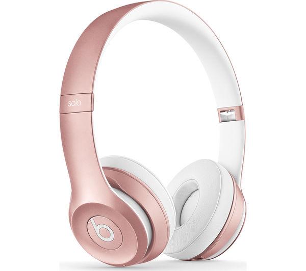Image of BEATS Solo 2 Wireless Bluetooth Headphones - Rose Gold