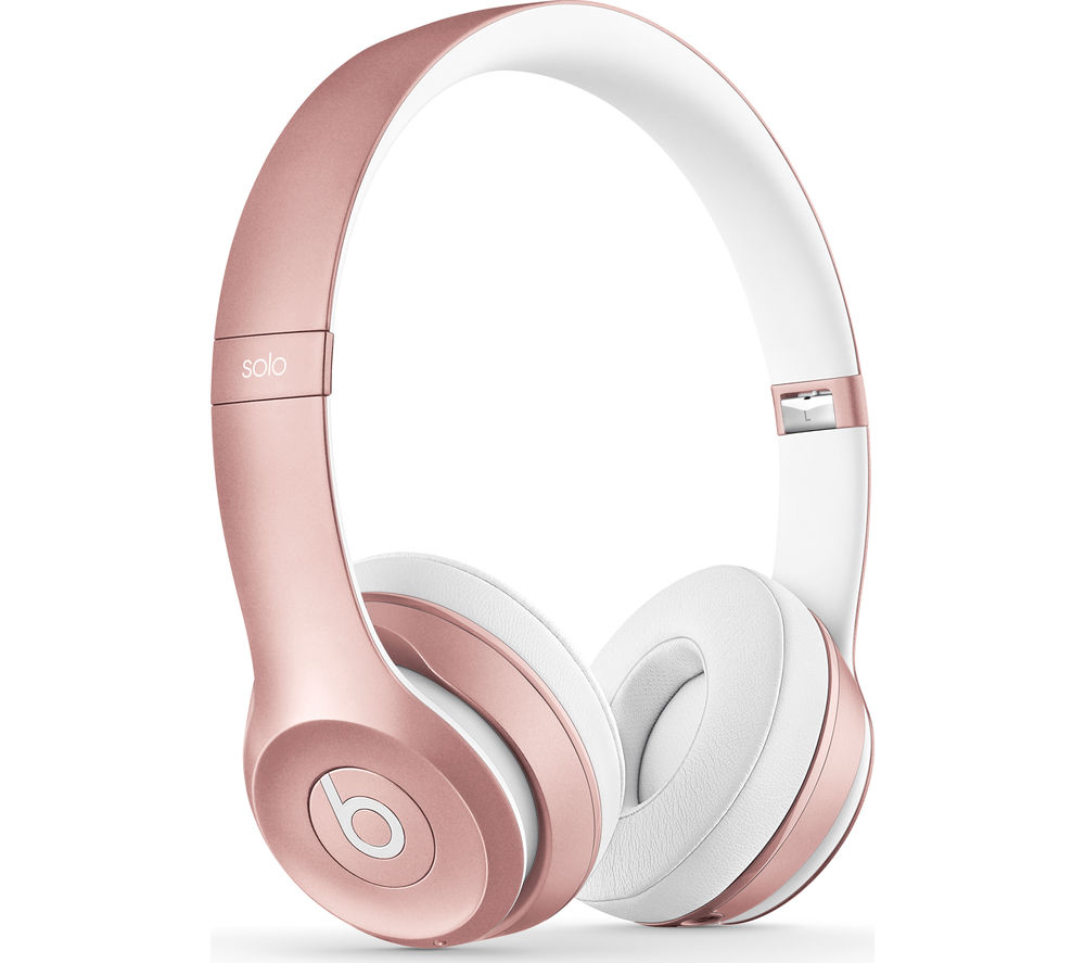 BEATS Solo 2 Wireless Bluetooth Headphones - Rose Gold