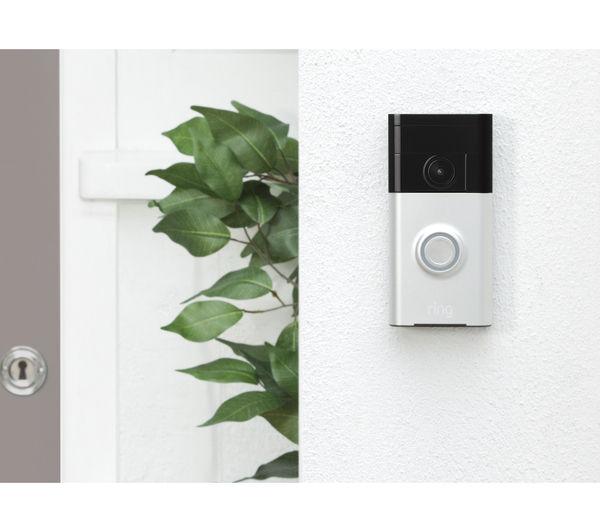 8vr1s5 seu0 satin ni ring video doorbell satin nickel. Black Bedroom Furniture Sets. Home Design Ideas