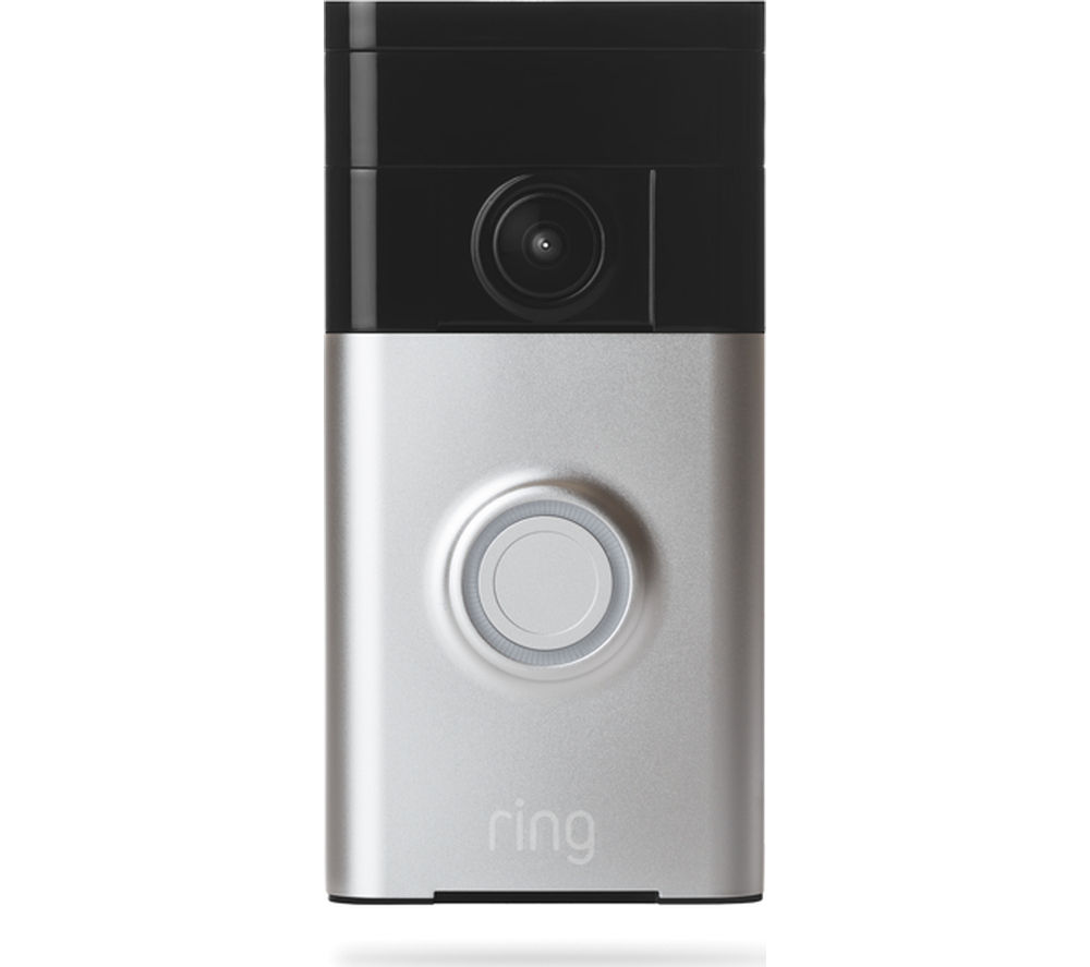 buy ring video doorbell satin nickel free delivery. Black Bedroom Furniture Sets. Home Design Ideas