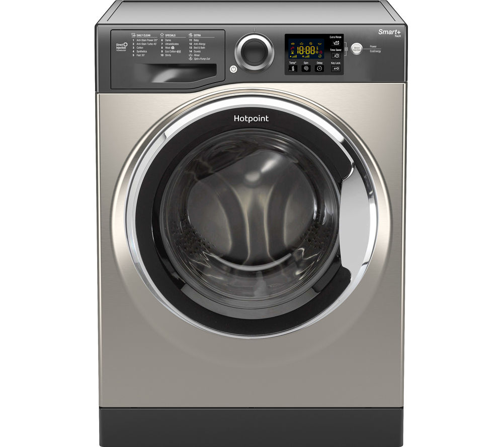 HOTPOINT  Smart RSG964JGX Washing Machine  Graphite Graphite