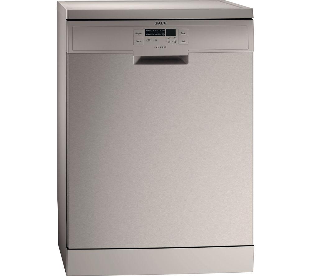 AEG  F56302M0 Fullsize Dishwasher  Stainless Steel Stainless Steel