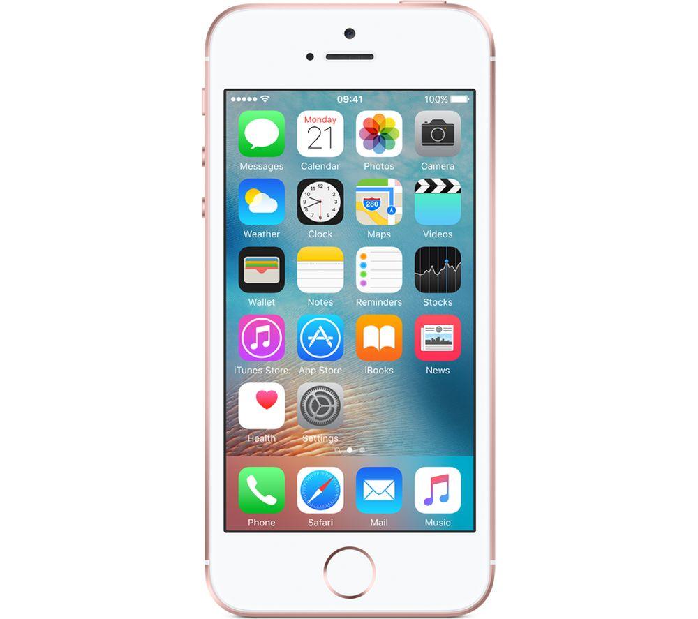 APPLE iPhone SE - 128 GB, Rose Gold