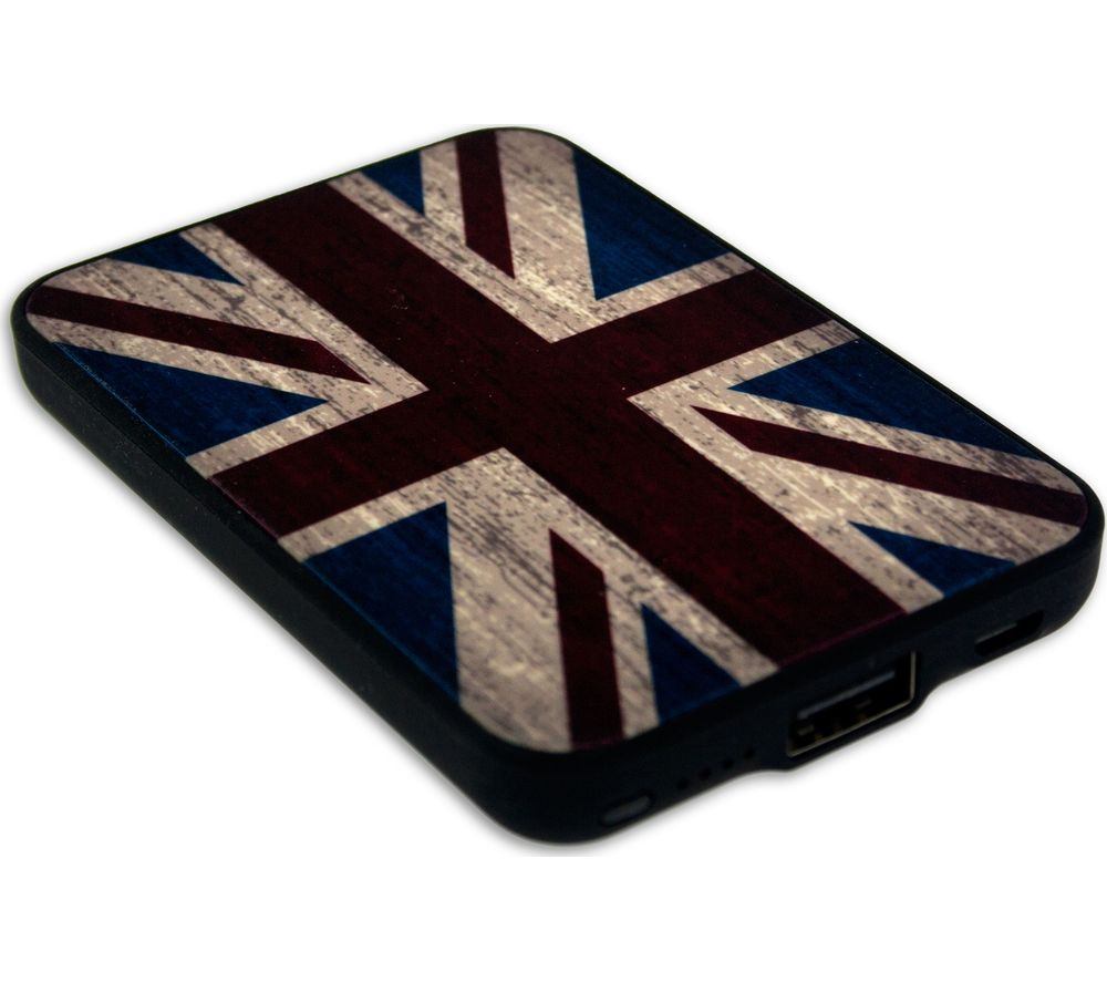 JACK & CABLES  Union Jack Portable Power Bank.