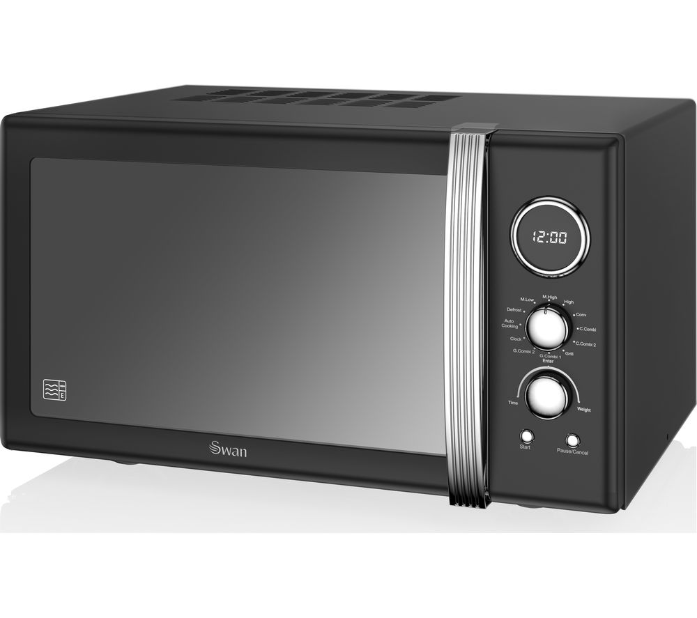 Image of SWAN SM22080BN Microwave with Grill - Black, Black