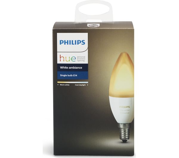 philips hue white ambience wireless bulb e14 deals pc. Black Bedroom Furniture Sets. Home Design Ideas