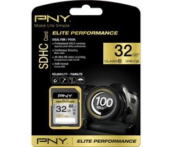 PNY Elite Performance Class 10 SDHC Memory Card - 32 GB