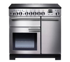 RANGEMASTER Professional Deluxe 90 Electric Induction Range Cooker - Stainless Steel & Chrome