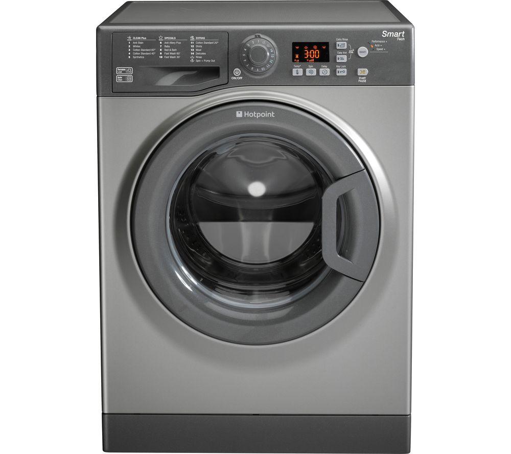 HOTPOINT Smart WMFUG942GUK Washing Machine - Graphite + Aquarius TCFS93BGP Condenser Tumble Dryer - White