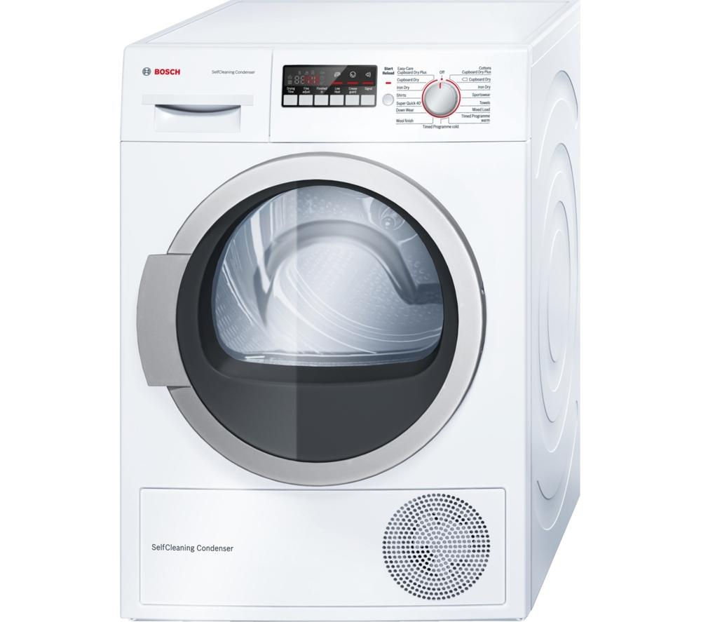 BOSCH WTW85250GB Heat Pump Tumble Dryer - White