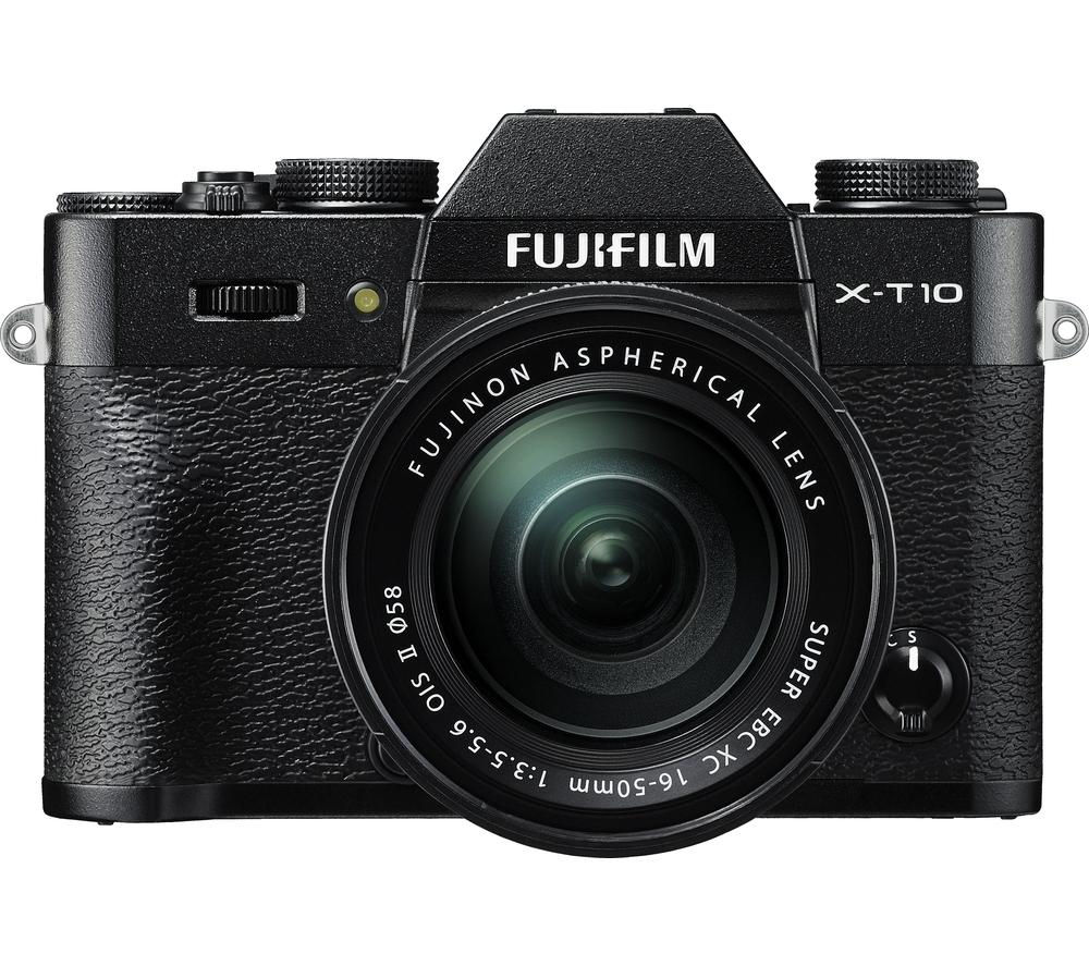 FUJIFILM X-T10 Compact System Camera with XC 16-50 mm f/3.5-5.6 OIS MKII Zoom Lens - Black