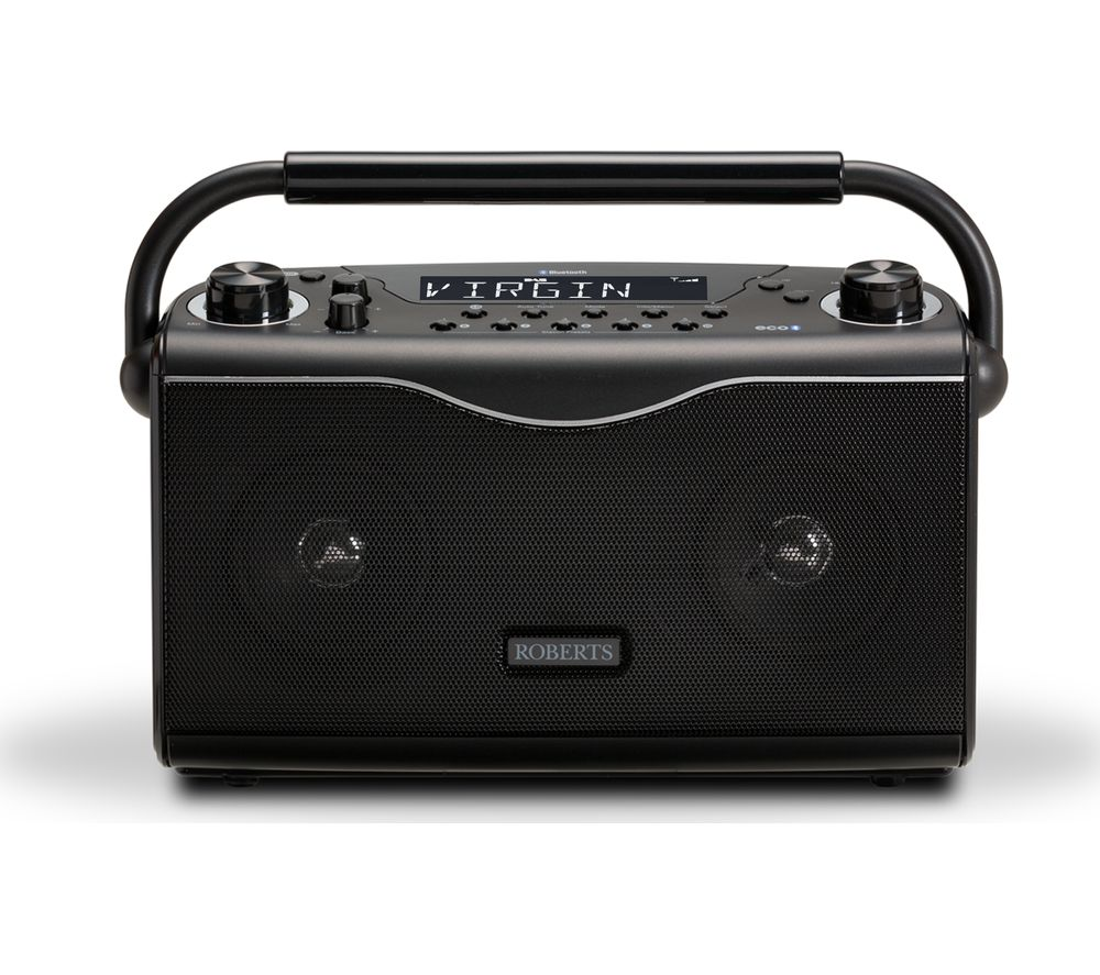 buy roberts eco4bt portable dab fm bluetooth radio. Black Bedroom Furniture Sets. Home Design Ideas