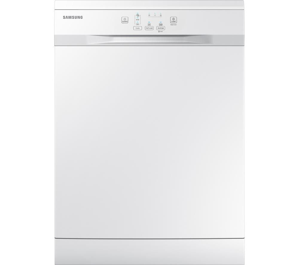 SAMSUNG DW60H3010FW Full-size Dishwasher - White + ecobubble WF80F5E2W4X Washing Machine - Graphite