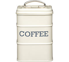 KITCHEN CRAFT Living Nostalgia Vintage Coffee Tin - Cream