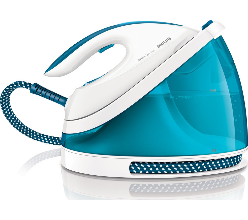 PHILIPS  PerfectCare GC703520 Steam Generator Iron  White & Blue White