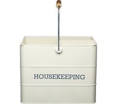 KITCHEN CRAFT Living Nostalgia Vintage Housekeeping Tin - Cream