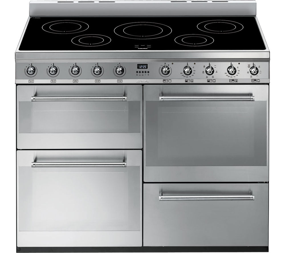 SMEG Symphony 110 cm Electric Induction Range Cooker - Stainless Steel