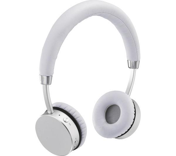 22f76314b9a - GOJI COLLECTION GTCONSL16 Wireless Bluetooth Headphones - Silver - Currys  PC World Business