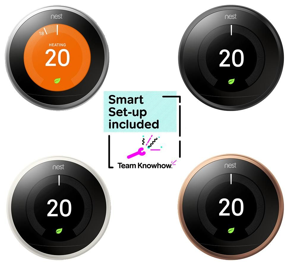 Image of KNOWHOW Nest Learning Thermostat and Installation - 3rd Generation