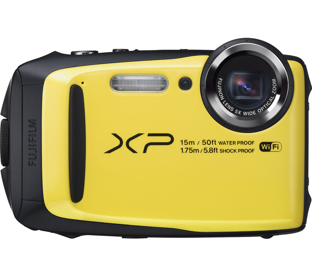 FUJIFILM XP90 Tough Compact Camera - Black & Yellow