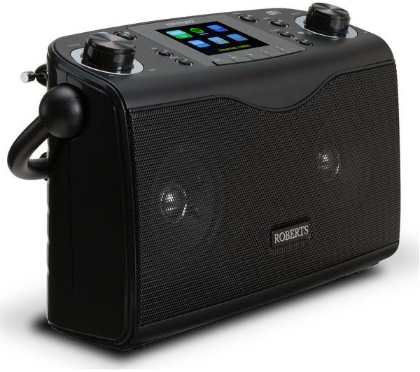 buy roberts stream217 portable dab fm clock radio black free delivery. Black Bedroom Furniture Sets. Home Design Ideas