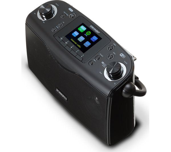 buy roberts stream217 portable dab fm clock radio black. Black Bedroom Furniture Sets. Home Design Ideas