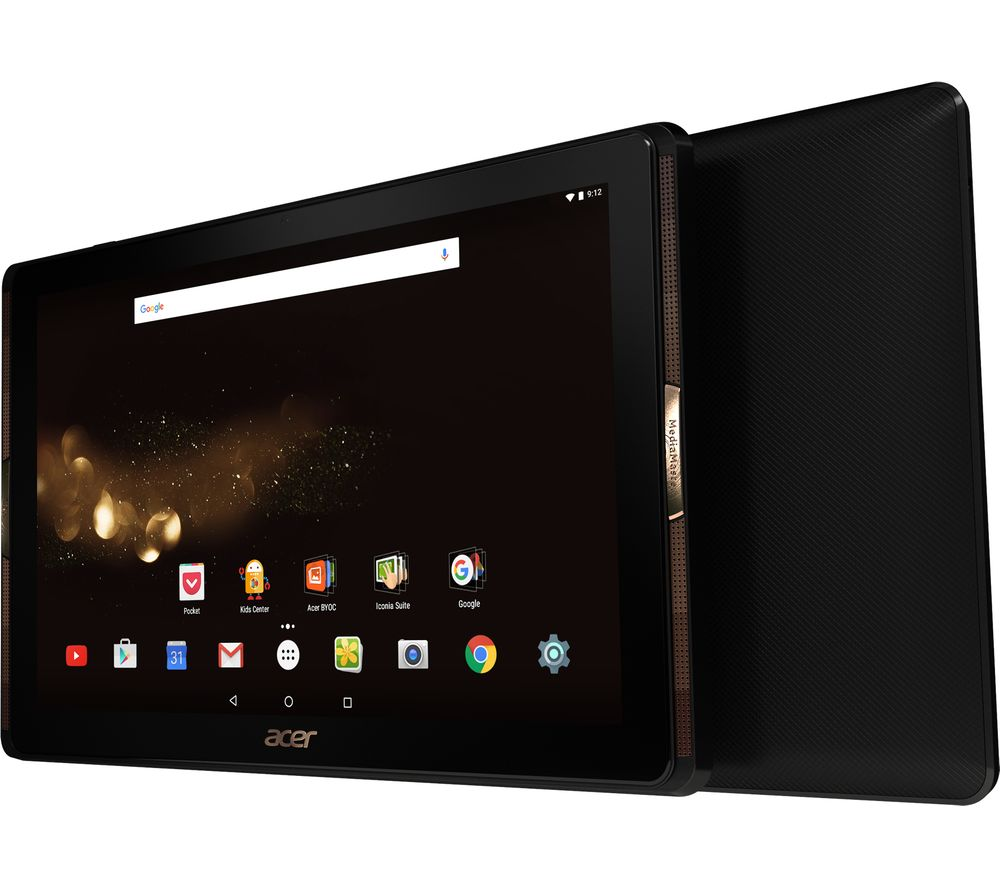 "ACER Iconia A3-A40 10.1"" Tablet - 32 GB, Black + LiveSafe Unlimited 2017 - 1 year + Cloud Storage for Tablets & Mobiles - 200 GB, 1 year"