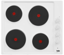 BEKO HIZE64101W Electric Solid Plate Hob - White
