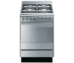 SMEG SUK61MX8 Dual Fuel Cooker - Stainless Steel