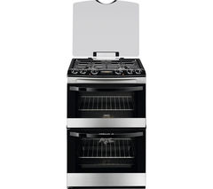 ZANUSSI ZCK68300X 60 cm Dual Fuel Cooker - Stainless Steel
