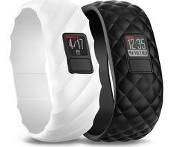 GARMIN Vivofit 3 - Black & White Sculpted Bangles, Regular